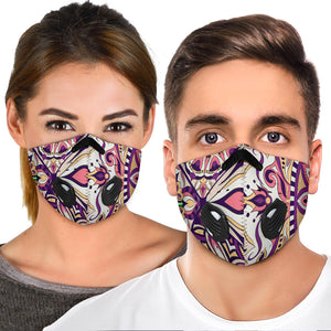 Special Purple Mosaic Mandala Vibes One Premium Protection Face Mask