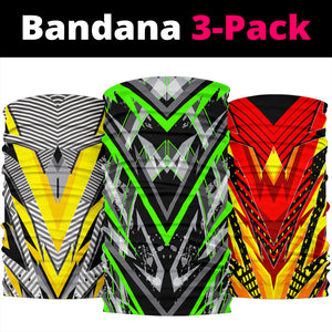 Racing Colorful Style Collection Bandana 3-Pack