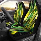 Racing Brazil Style Yellow & Green Vibes Car Seat Covers