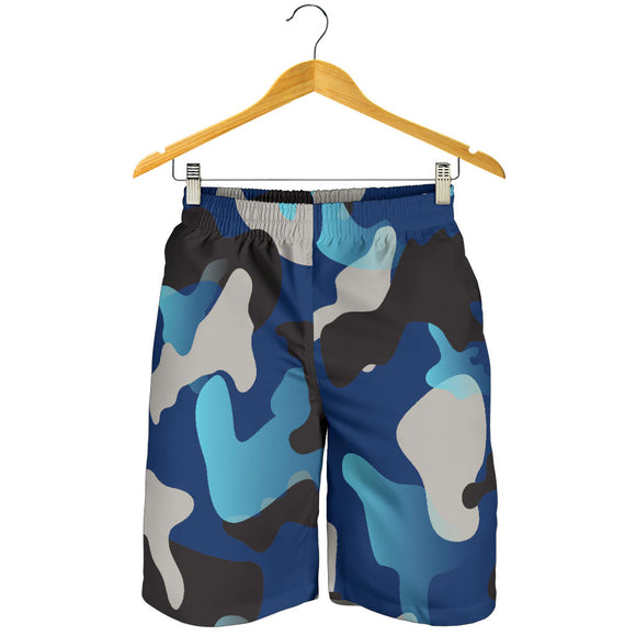 Blue Camouflage Men's Shorts