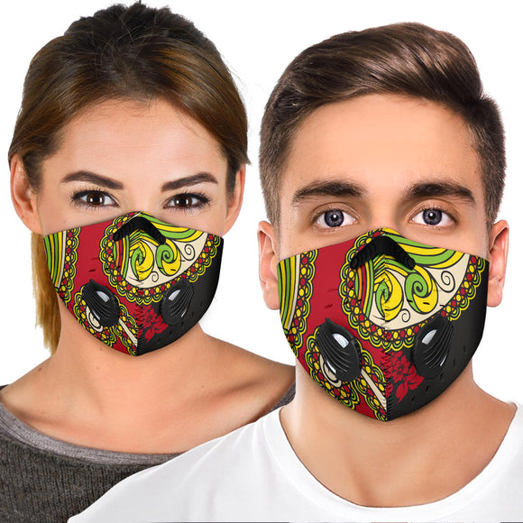 Paisley Red & Green Design Premium Protection Face Design