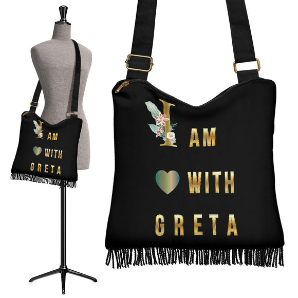 I Am With Greta Crossbody Boho Handbag