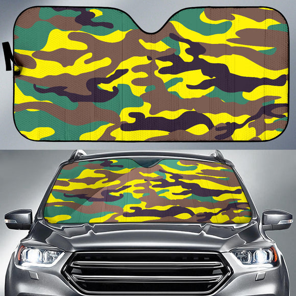Yellow Neon Army Auto Sun Shades