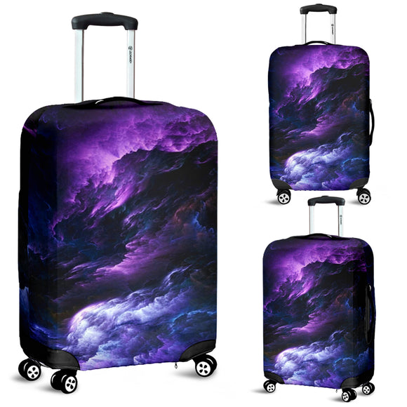 Purple Universe Luggage Cover
