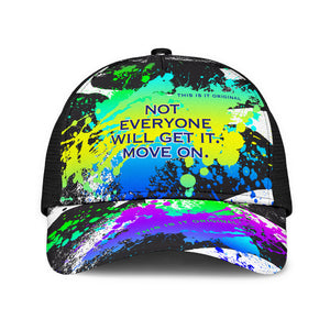 Not everyone will get it. Move on. Colorful Abstract Art Design With Neon Splash Mesh Back Cap