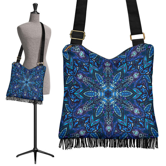 Dark Blue Night Sky Crossbody Boho Handbag