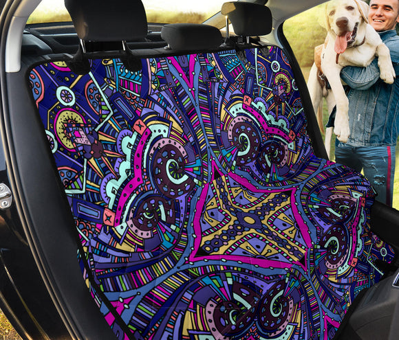 Amazing Purple Night Sky Pet Seat Cover