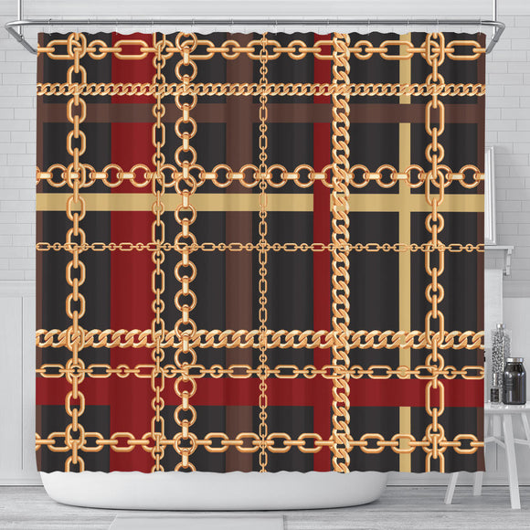 Extraordinary Chain Shower Curtain