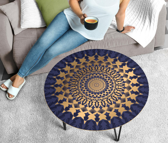 Amazing Blue Mandala Love Circular Coffee Table