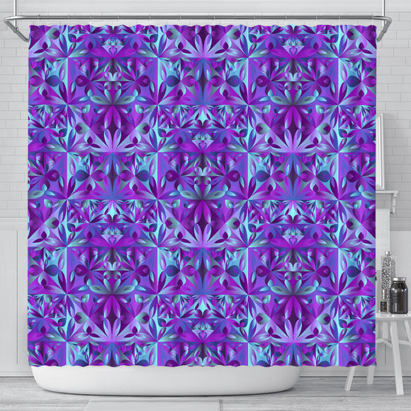 Psychedelic Violet Shower Curtain