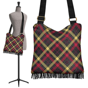 Exclusive Tartan Crossbody Boho Handbag