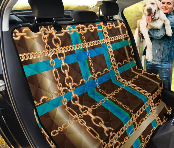 Blue Chain Pet Seat Cover