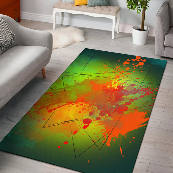 Deep Ocean Green Fresh Street Art Design Area Rug