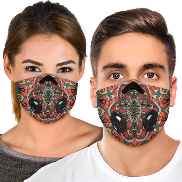 Beautiful Vibes Mandala Four Premium Protection Face Mask