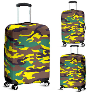 Yellow Neon Army Luggage Cover