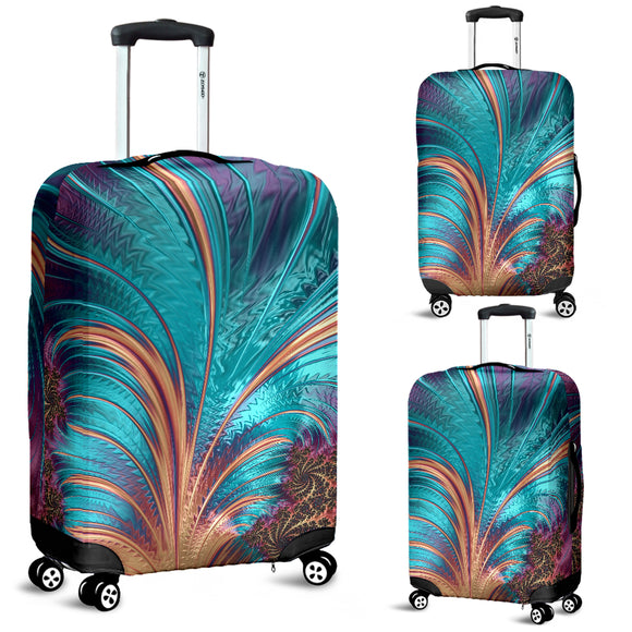 Turquoise Firework Luggage Cover