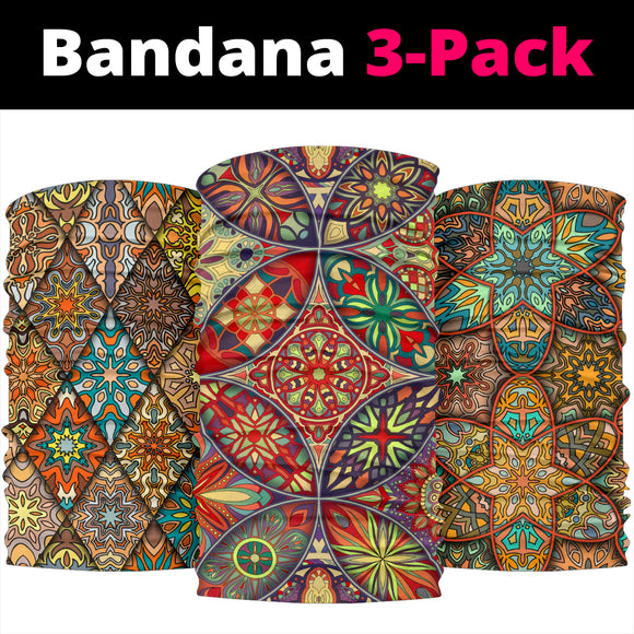 Mandala 5 Design by This is iT Original Bandana 3-Pack