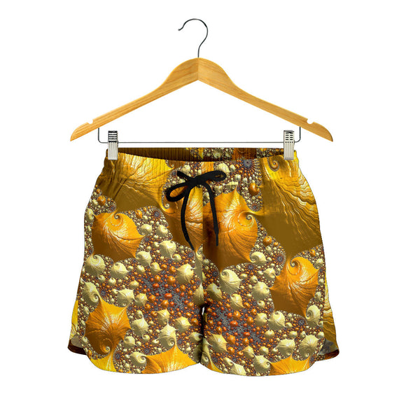 Psychedelic Gold Women's Shorts