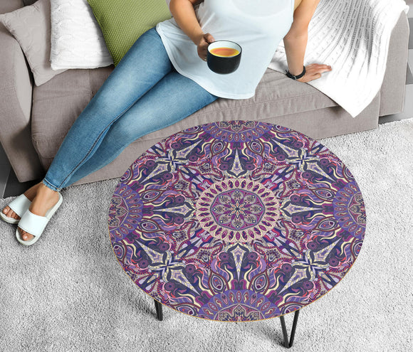 Ornamental Magical Purple Circular Coffee Table