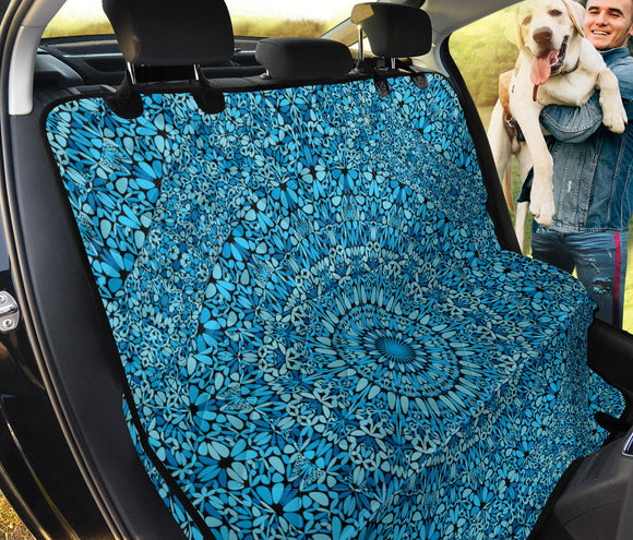 Sky Blue Mandala Pet Seat Cover