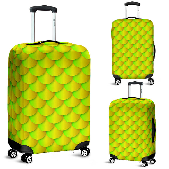 Neon Mermaid Luggage Cover
