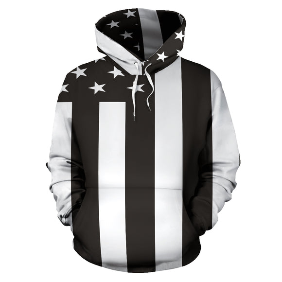 Amazing Black American Flag All Over Hoodie