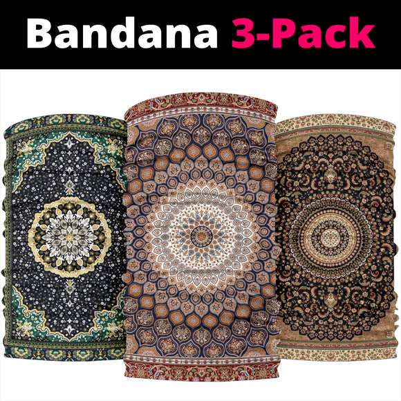 Luxury Oriental Mandala Design on Bandana 3-Pack