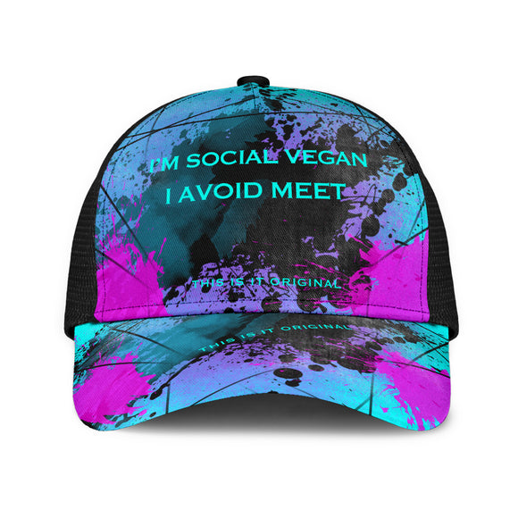 I'm a social vegan. I avoid meet. Big City Life Mesh Back Cap