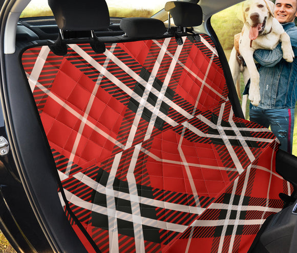 Red Tartan Pet Seat Cover
