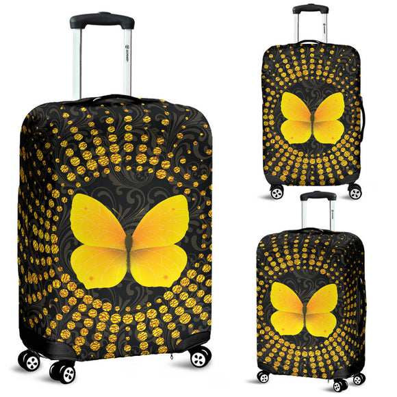 Glittering Butterfly Luggage Cover