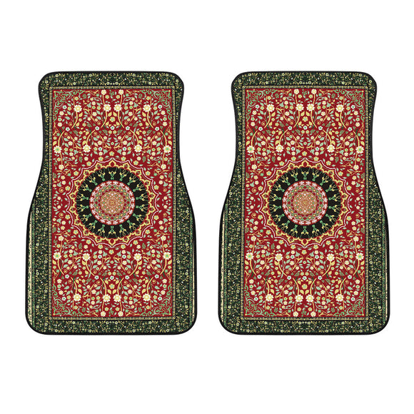 Luxury Oriental Mandala Carpet 9 Front Car Mats