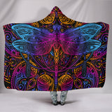 Amazing Lovely Dragonfly Intensity Premium Hooded Blanket