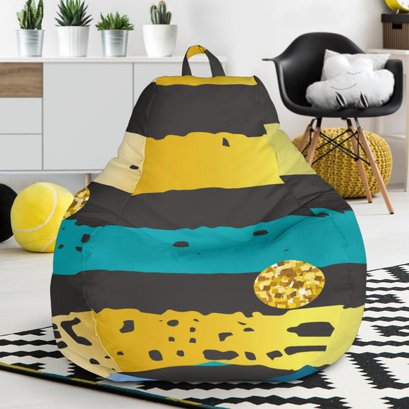 Luxury Neon Strips Bean Bag Chair