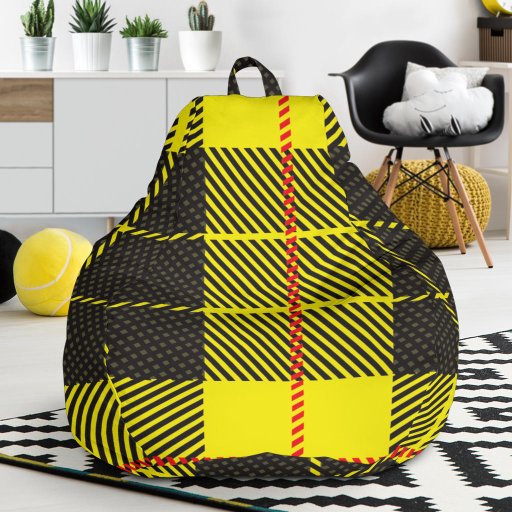 Outstanding Yellow Tartan Passion Bean Bag Chair Pdpeps Interior Chair Design Pdpepsorg
