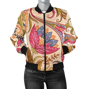 Royal Paisley Women's Bomber Jacket