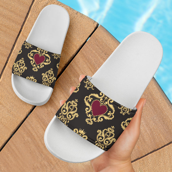 Luxury Royal Hearts Slide Sandals