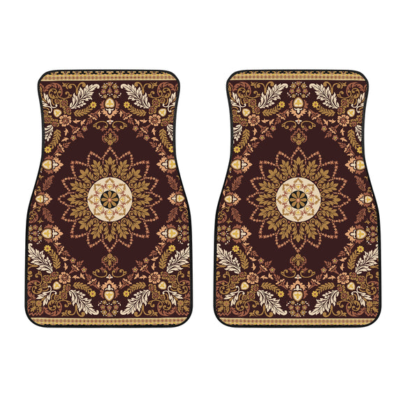 Luxury Oriental Mandala Carpet 8 Front Car Mats