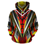 Racing Style Wild Red & Yellow Vibes All Over Hoodie