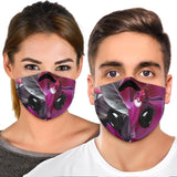 Luxury Colorful  Pink Flowers Art One Premium Protection Face Mask