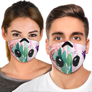 Lovely Pink Flowers Art Two Premium Protection Face Mask