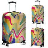Rainbow Waves Luggage Cover