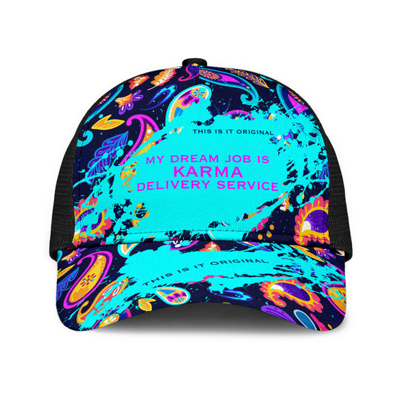 Karma Delivery Service. Mesh Back Cap Paisley Design