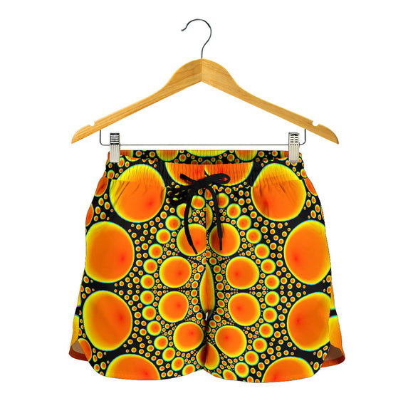 Neon Orange Sun Women's Shorts
