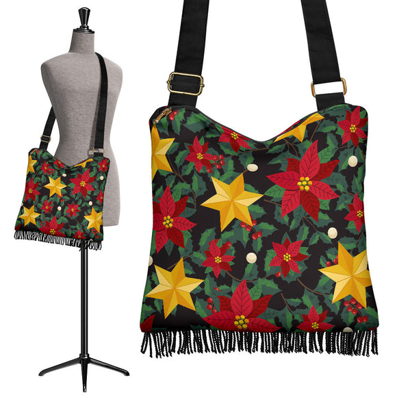 Christmas Perfect Good Vibes Only Crossbody Boho Handbag