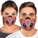 Psychedelic Pink Mandala Premium Protection Face Mask