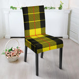 Yellow Tartan Passion Dining Chair Slip Cover