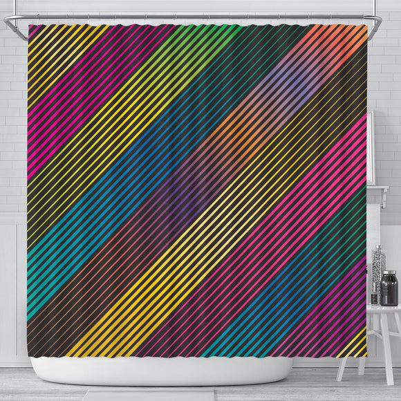 Party Lights On Shower Curtain