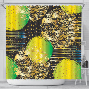 Energizing Neon Dots Shower Curtain