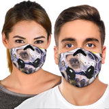 Luxury Blue & Pink Marble Bubble Art Design Premium Protection Face Mask