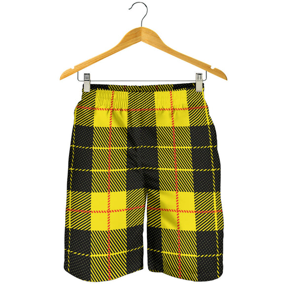 Yellow Tartan Passion Men's Shorts